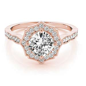 14k Rose Gold Engagement Setting