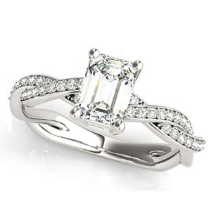 14k White Gold Engagement Setting