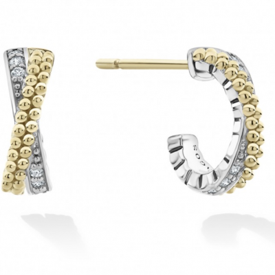 Caviar Lux Diamond Hoop Earrings